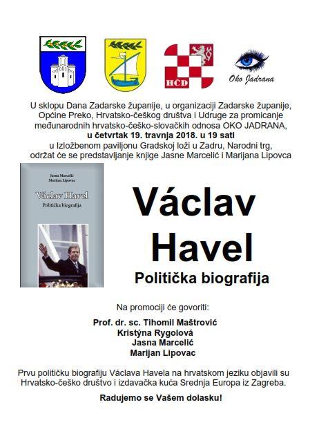 Predstavljanje knjige Vaclav Havel. Politička biografija u Zadru