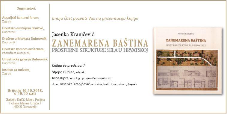 Predstavljanje knjige Zanemarena baština u Dubrovniku